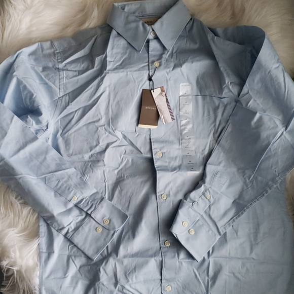 Merona Other - Merona Baby Blue Button Down Dress Shirt